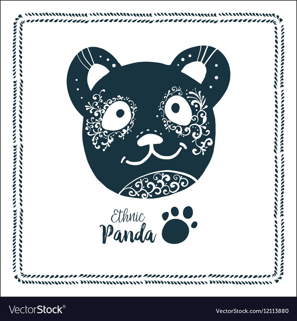 Panda logo bamboo icon