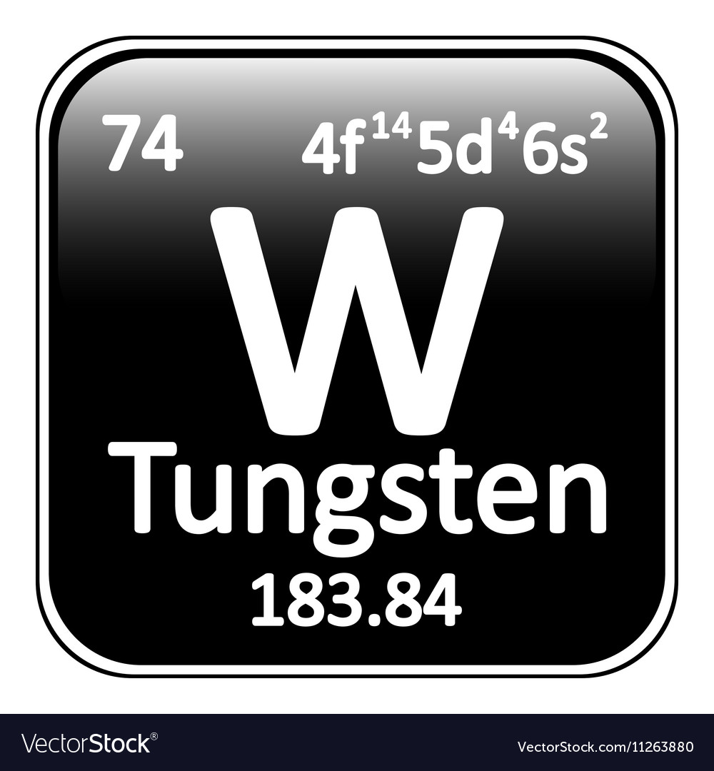 Periodic Table Element Tungsten Icon Vector Image
