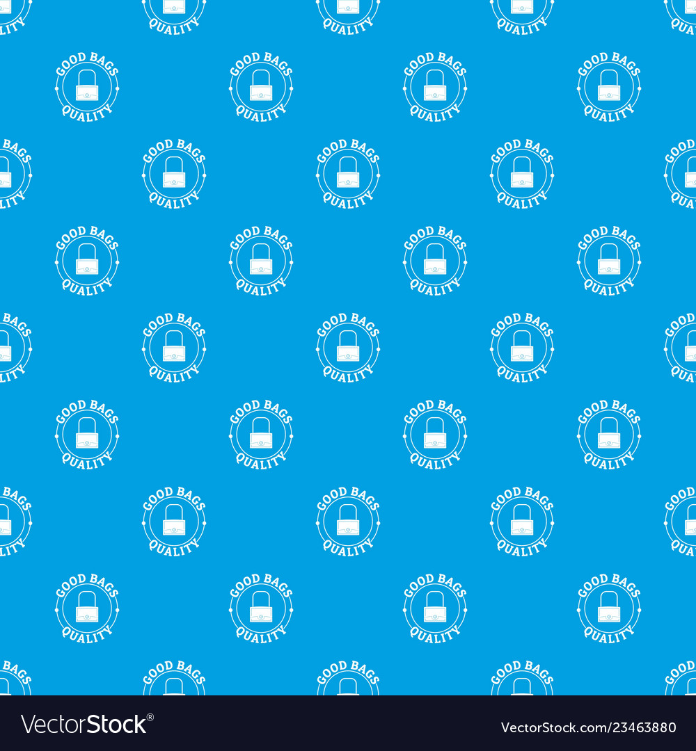 Quality Bags Pattern Seamless Blue