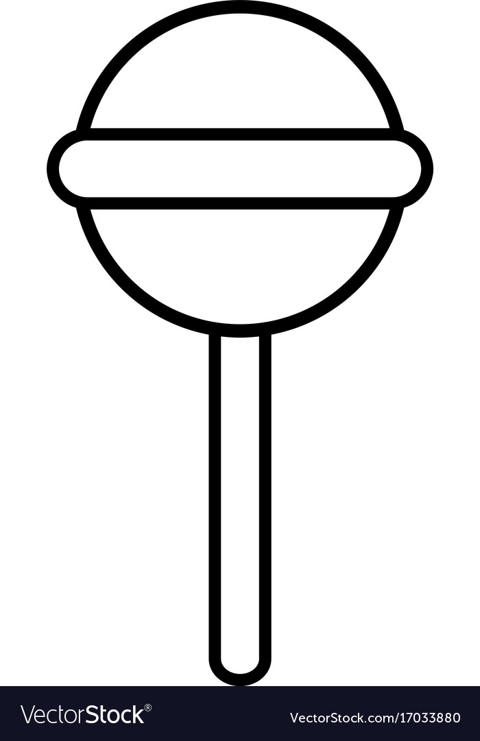 Round lollipop icon outline line style