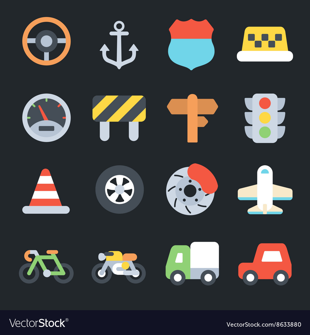 Transport Flat Icons