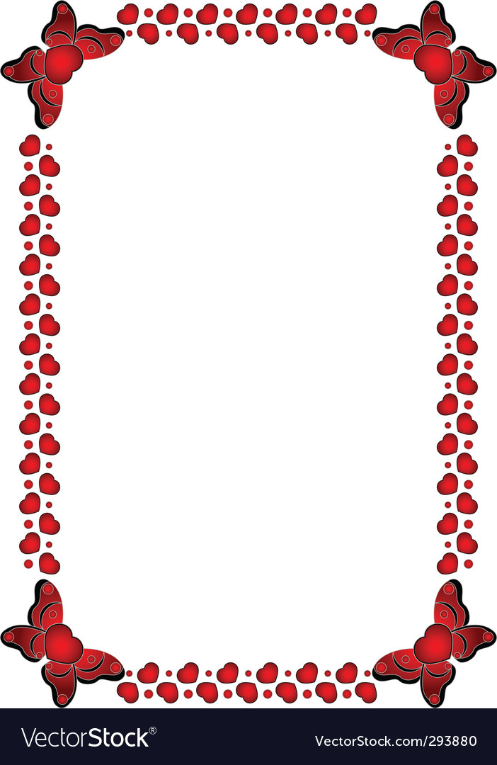 Valentines day frame Royalty Free Vector Image