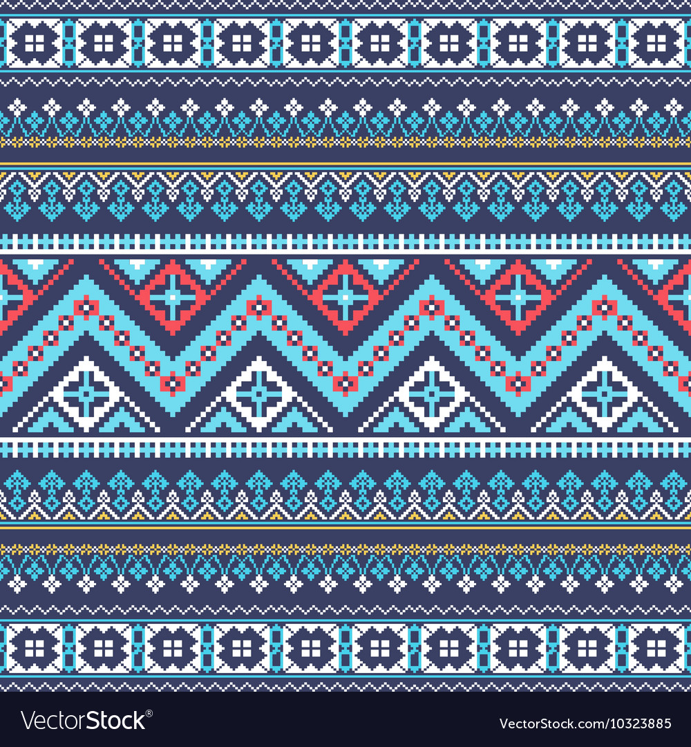 Aztec pixel seamless pattern Ideal for printing