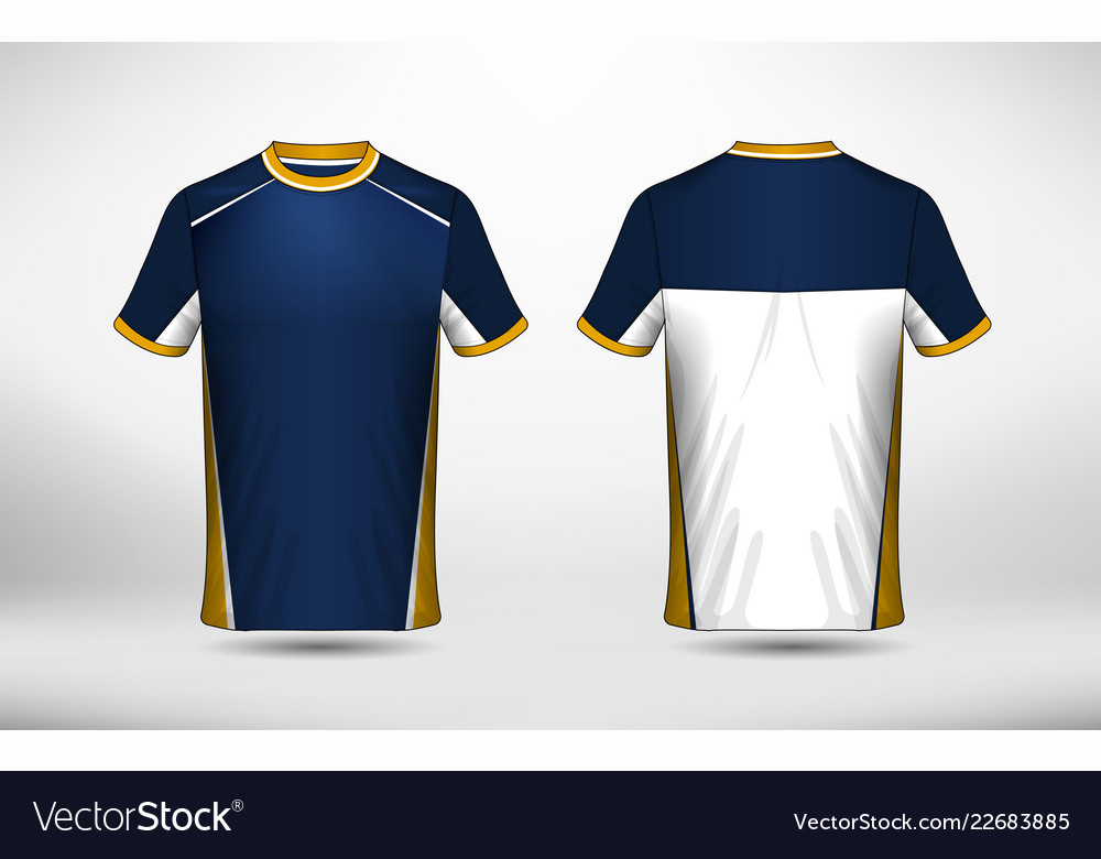 5447adce Blue White And Yellow Layout E Sport T Shirt Vector Image