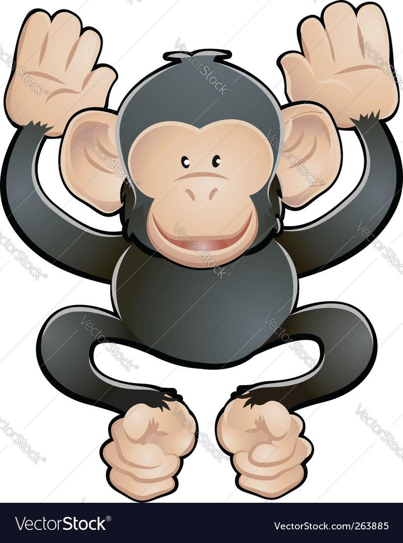 Chimpanzee illustration vector image