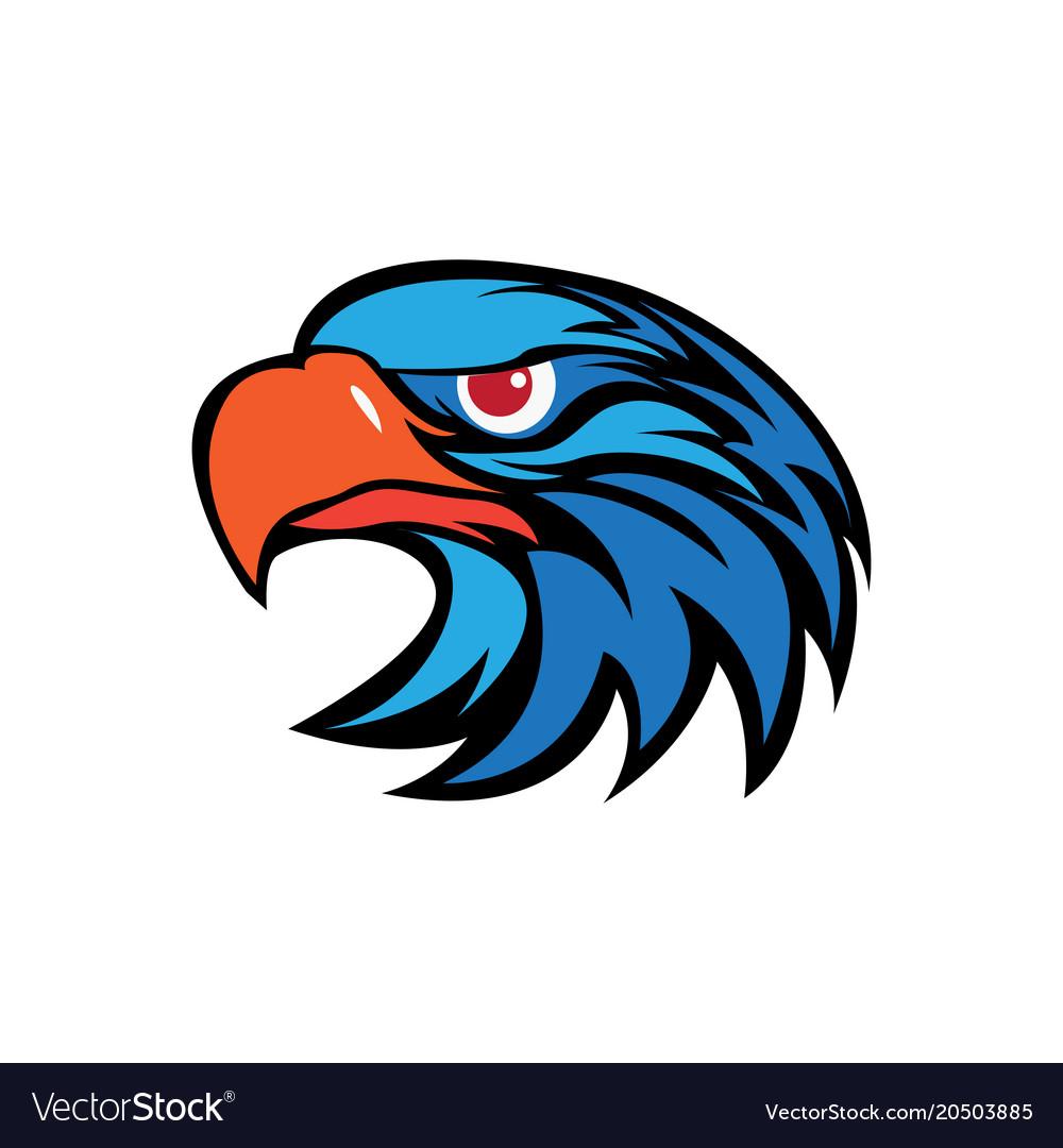 eagle head logo royalty free vector image vectorstock rh vectorstock com  eagle head logo design