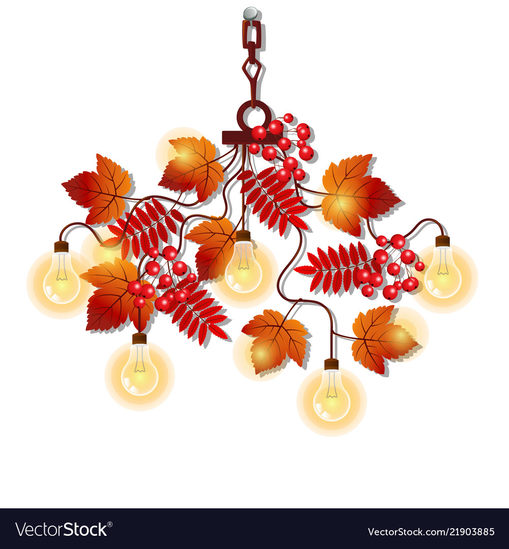 Electric chandelier with ornate frame of tree