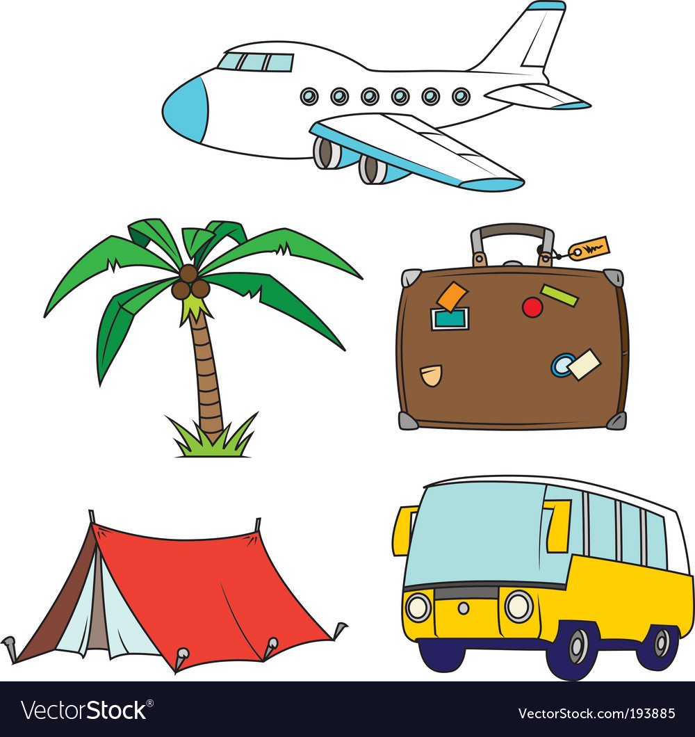 holidays and travel clipart set royalty free vector image rh vectorstock com holiday clipart free holiday clipart black and white