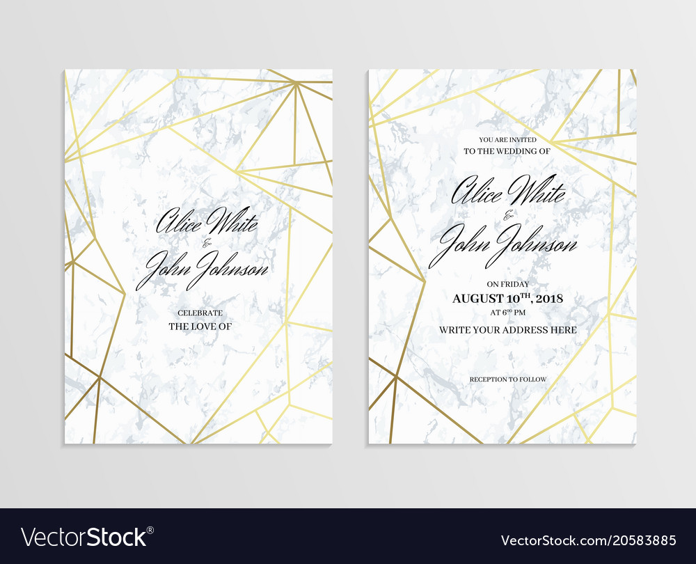 Invitation card template of geometric design vector image stopboris Choice Image
