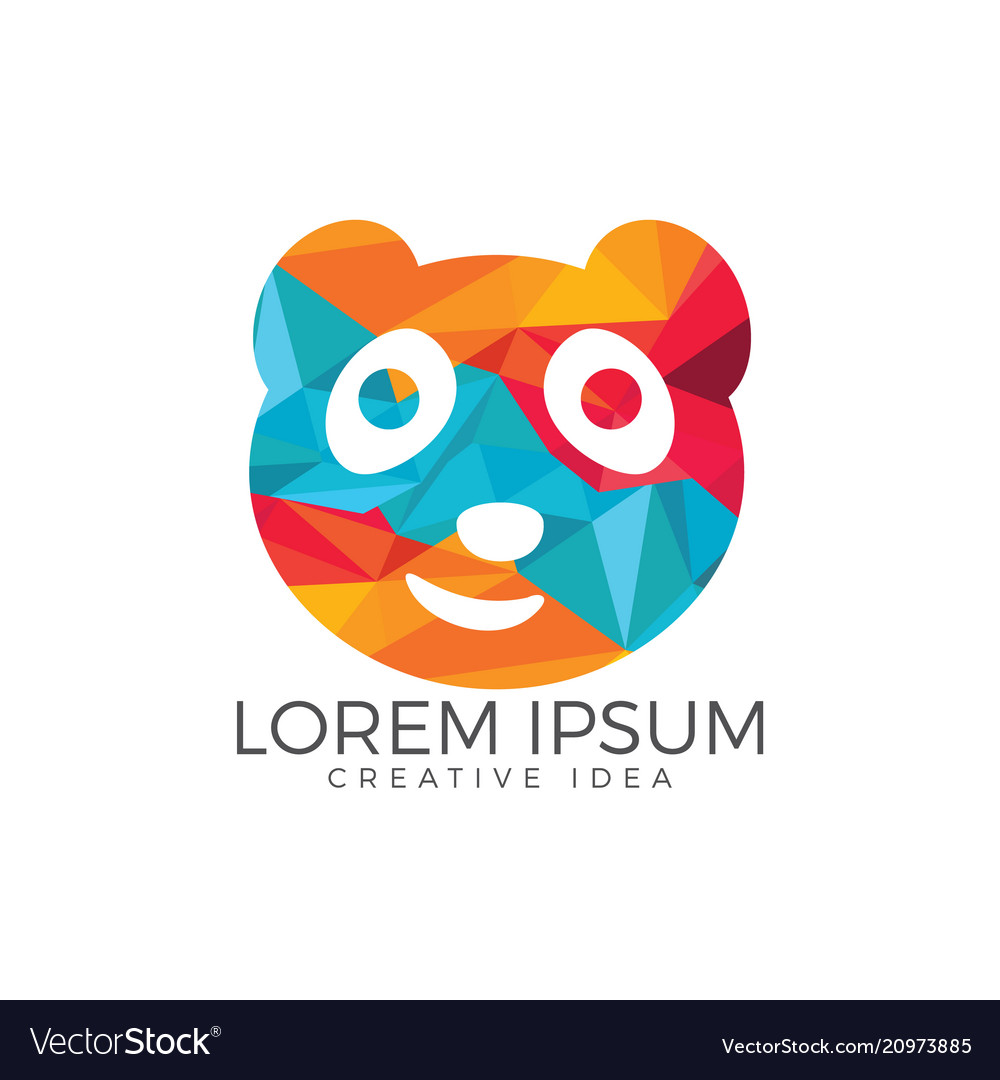 panda bear logo design template royalty free vector image