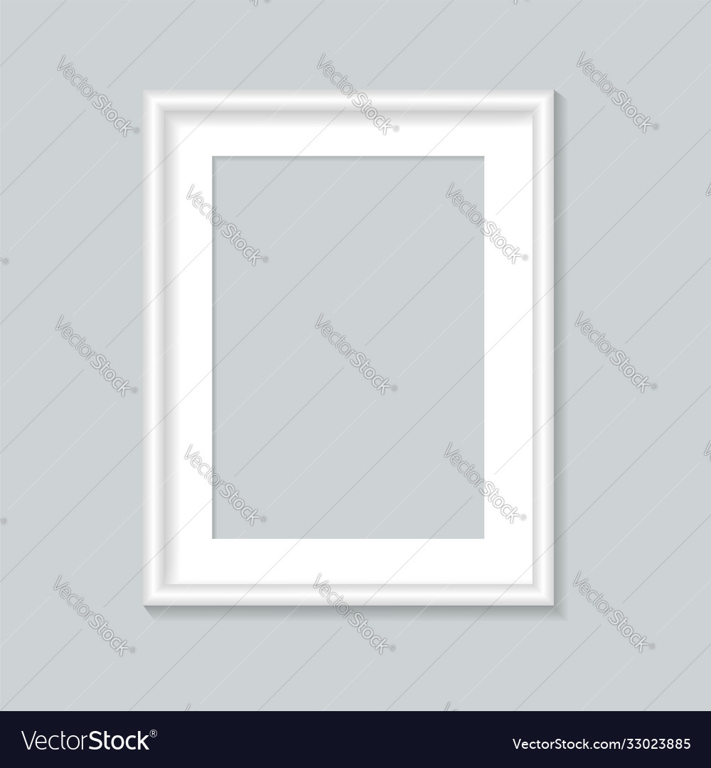 White photo frame template