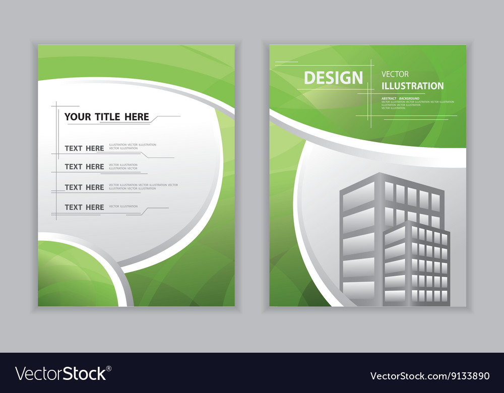 abstract green template book cover royalty free vector image