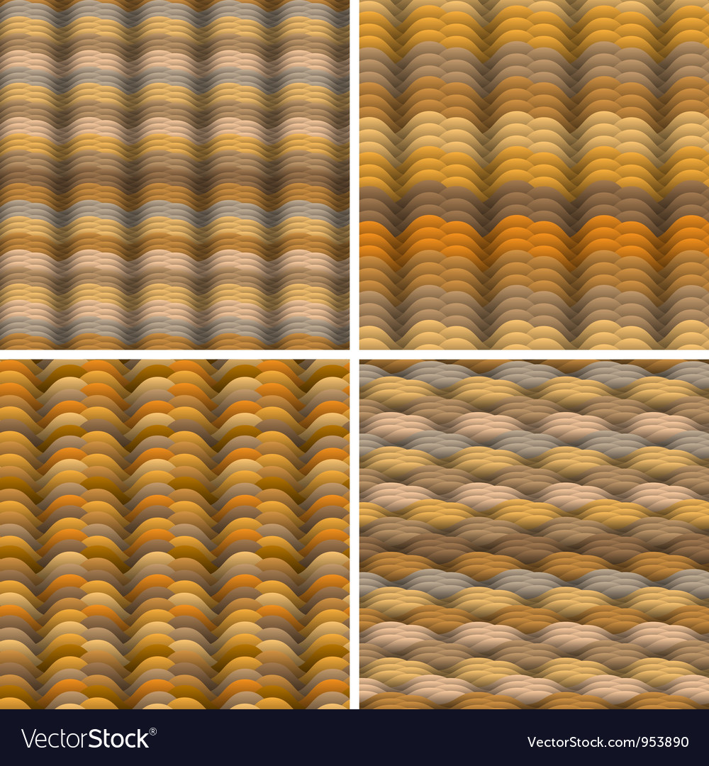 Abstract warm colored waves seamless pattern vector image