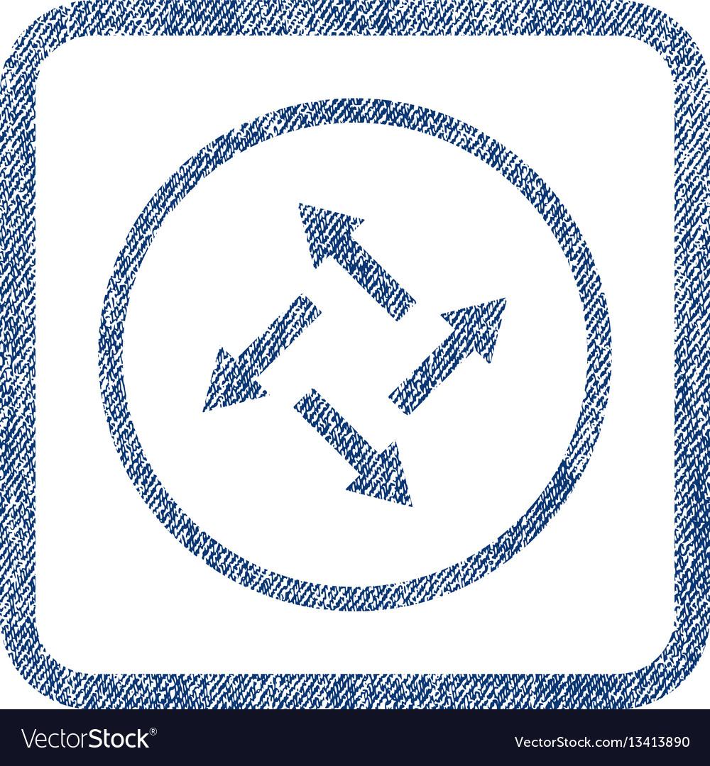 Centrifugal arrows fabric textured icon