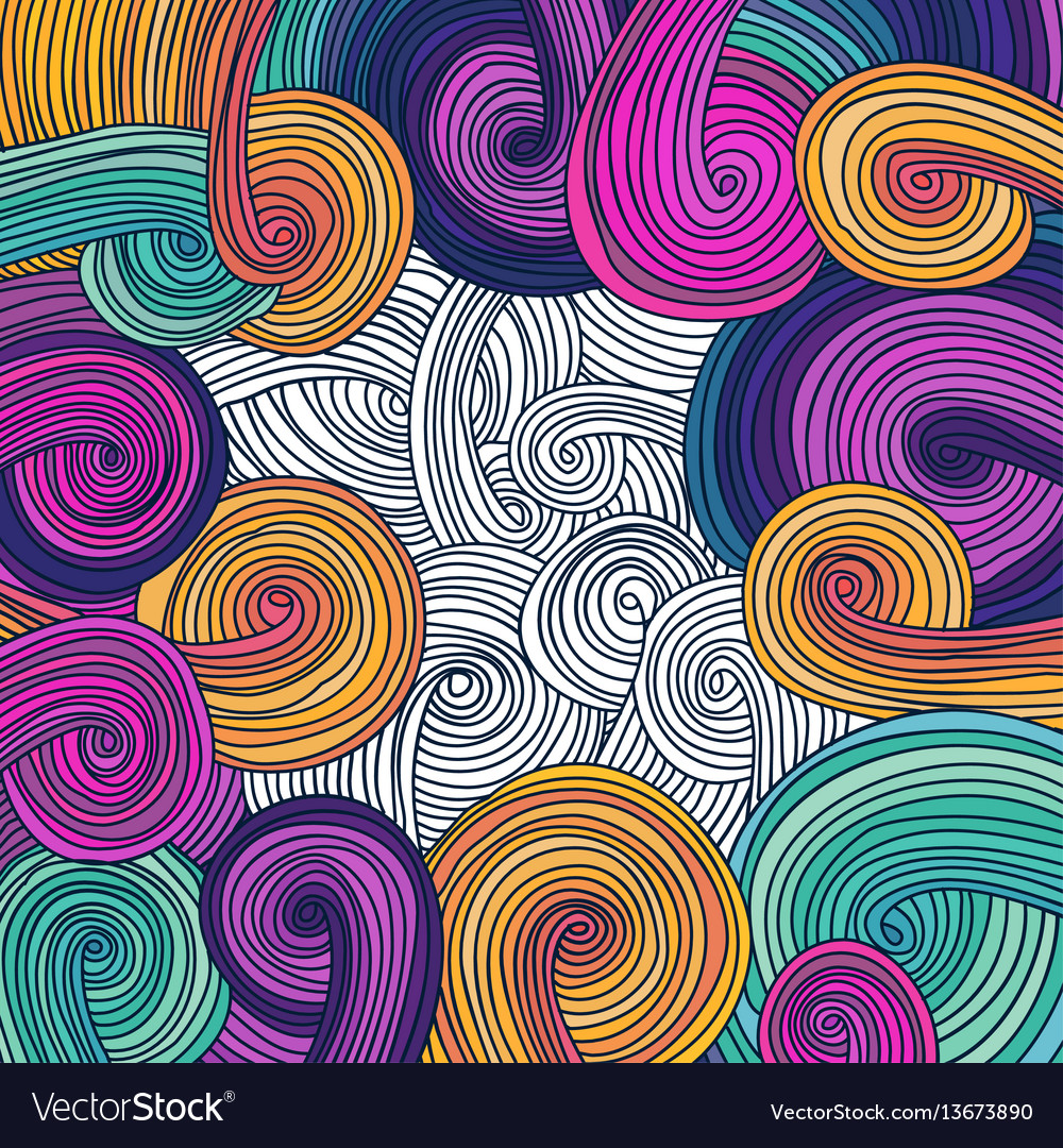 Colorful linear wavy texture