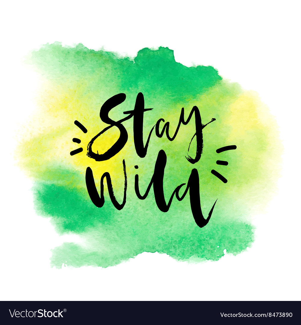 Motivation Poster Stay Wild Abstract Background