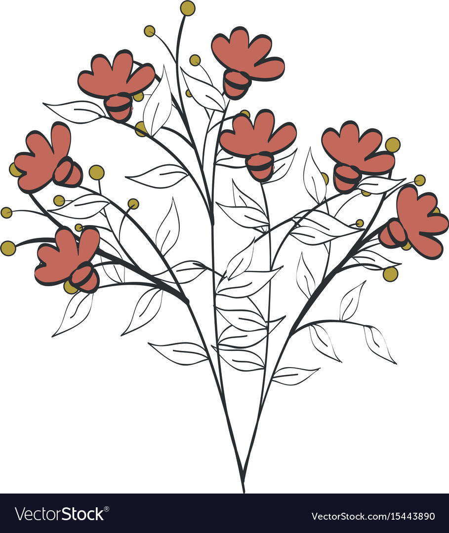 Naturals Flowers Tattoos Royalty Free Vector Image