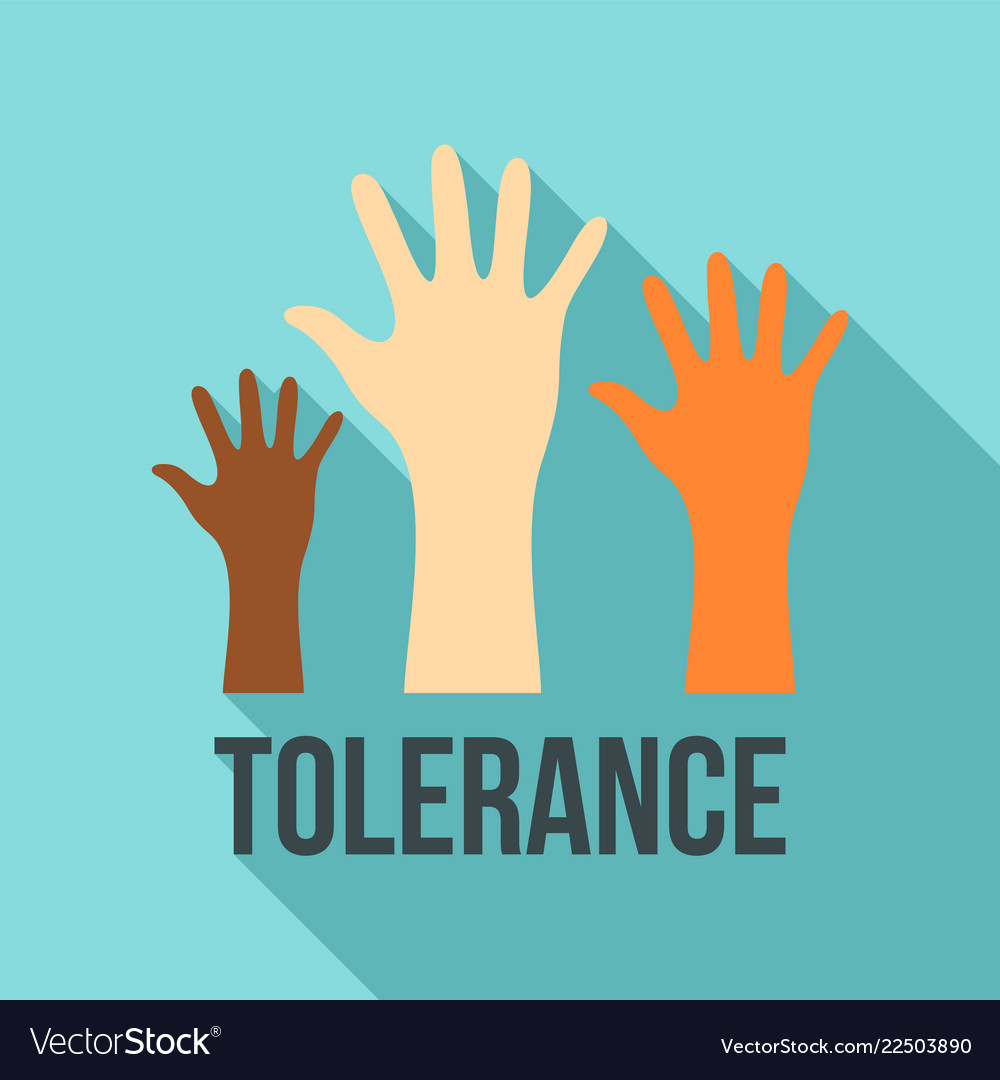 Racism tolerance logo flat style Royalty Free Vector Image