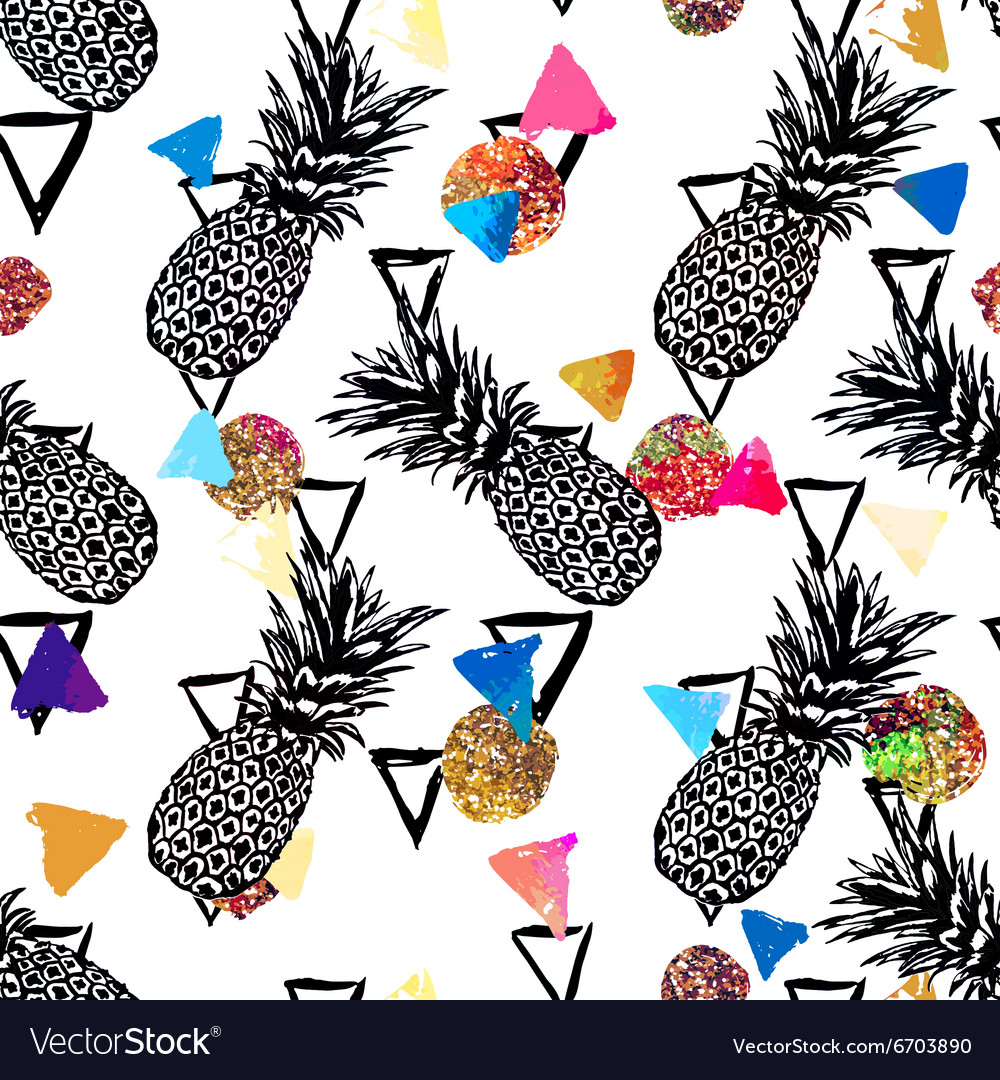 Seamless tropical pattern background with
