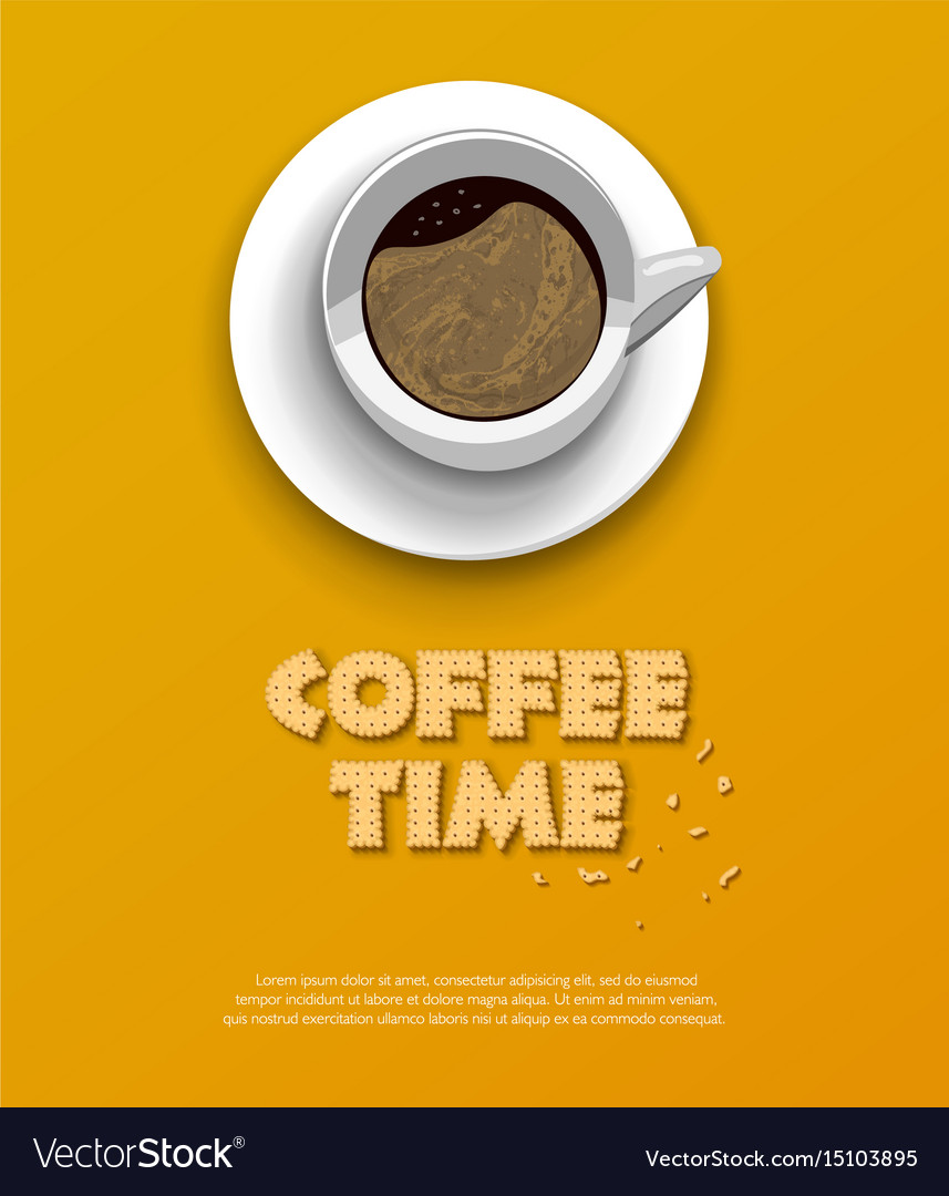 Coffee time concept design background