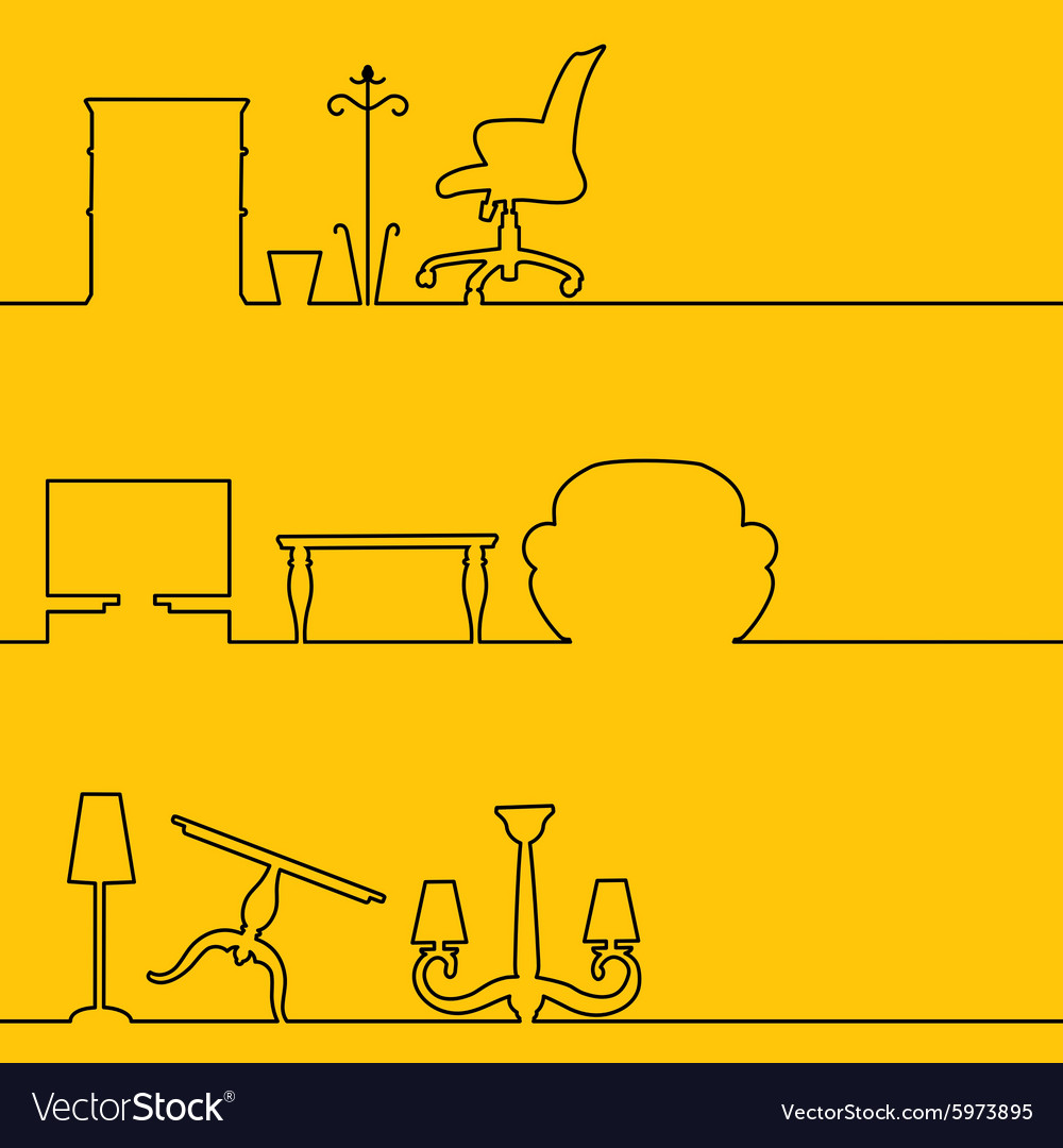 Interior linear infographics