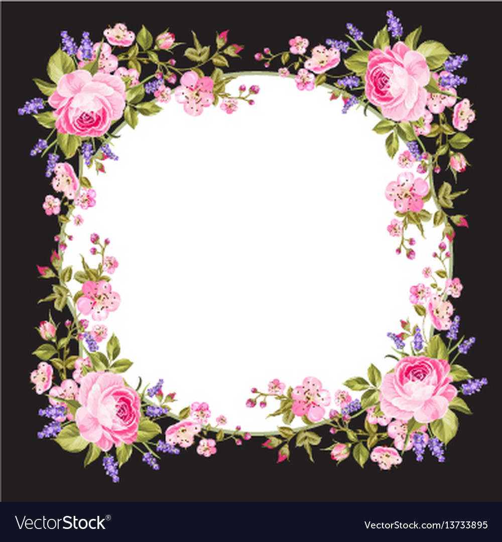 Spring Flowers Border Royalty Free Vector Image
