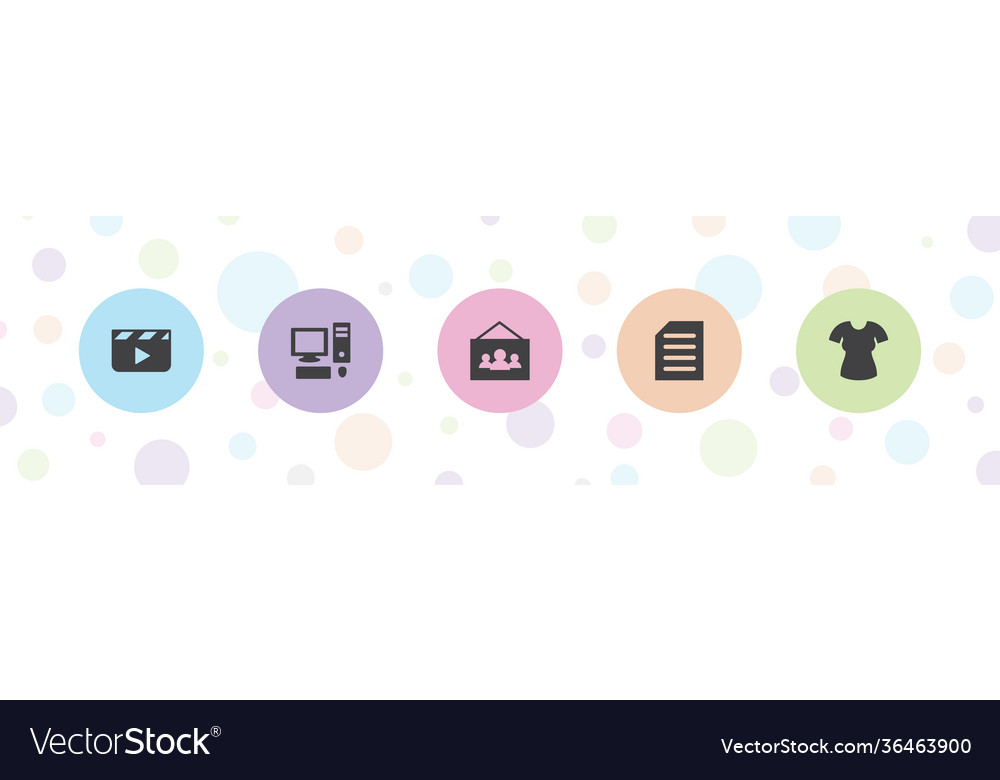 5 blank icons
