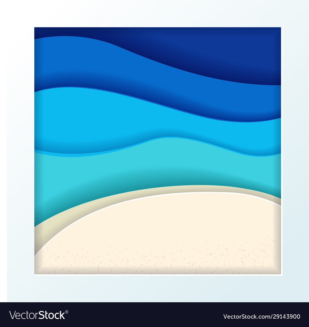 Abstract blue turquoise maldivian ocean and beach