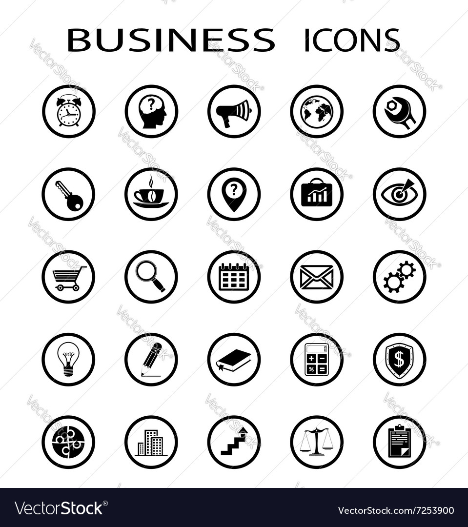 Business icons Stock