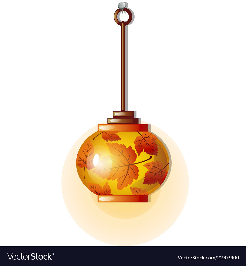 Electric lamp with glass lampshade with ornament