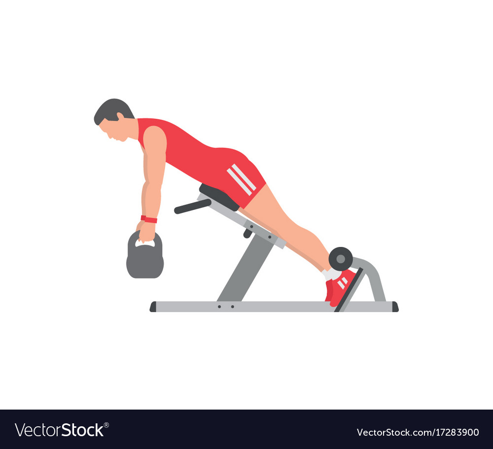 Man Doing Lower Back Exercise Royalty Free Vector Image