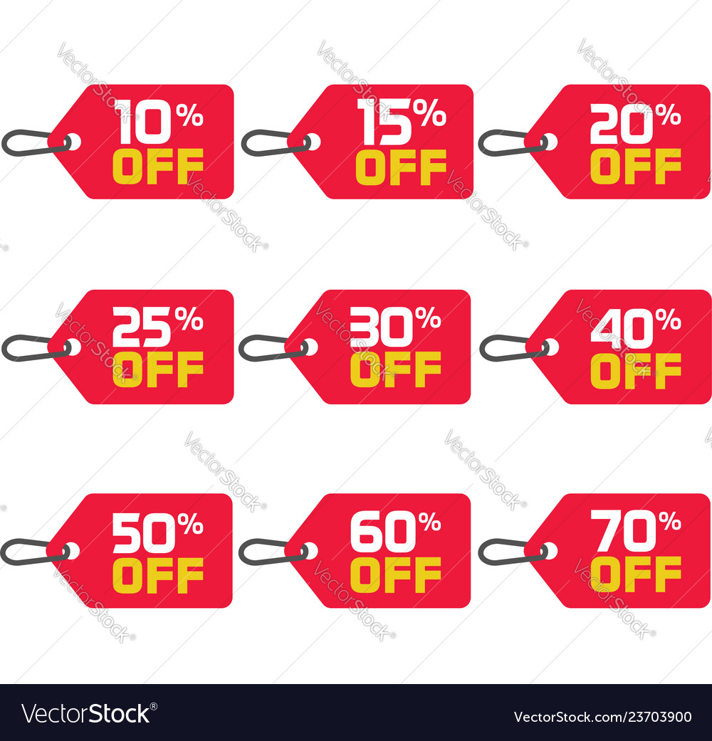Sale tags set badges template 10 off 15