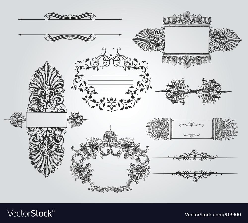 Vintage ornament set