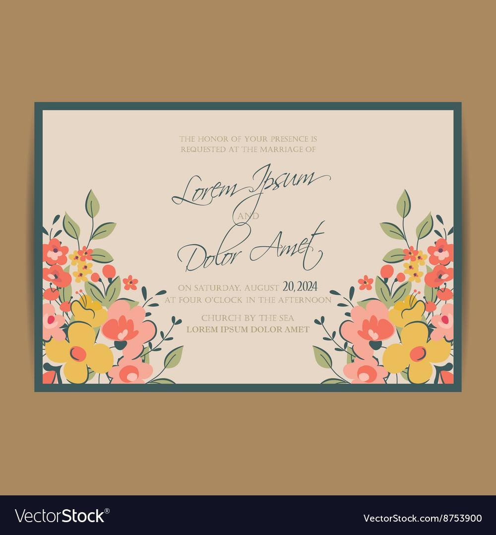 Wedding invitation pink card