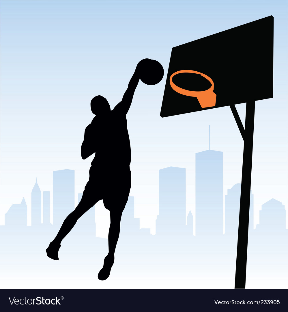basketball player silhouette. Basketball Player Vector