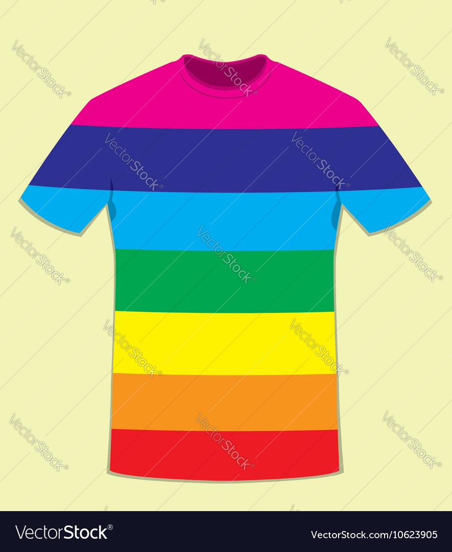 Coloured t-shirt template - peace concept Vector Image