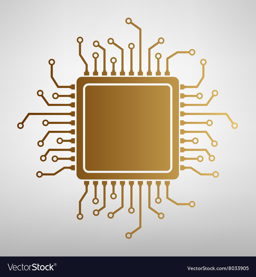 CPU Microprocessor Flat style icon
