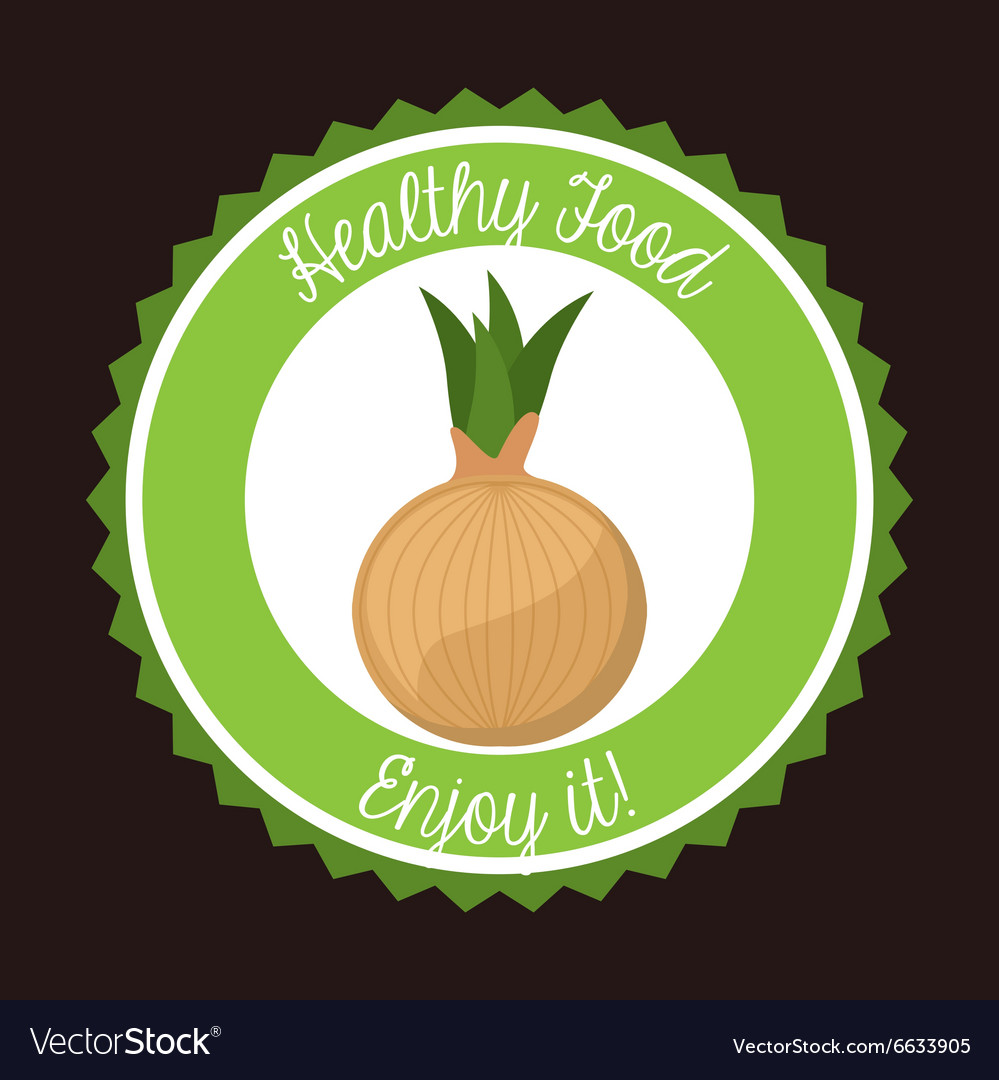 Healthy vegetarian food design vector image