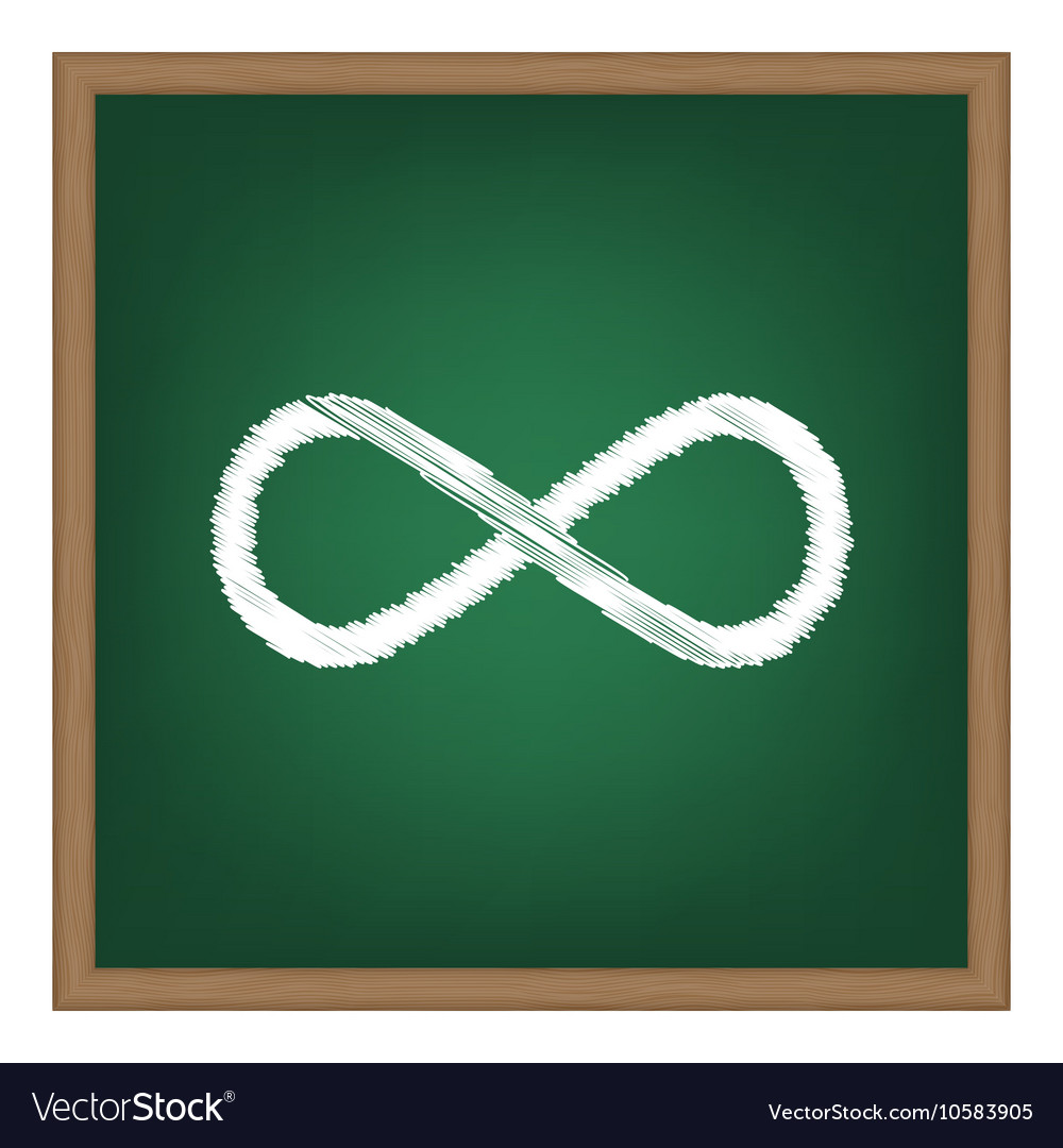 Limitless symbol White chalk effect vector image