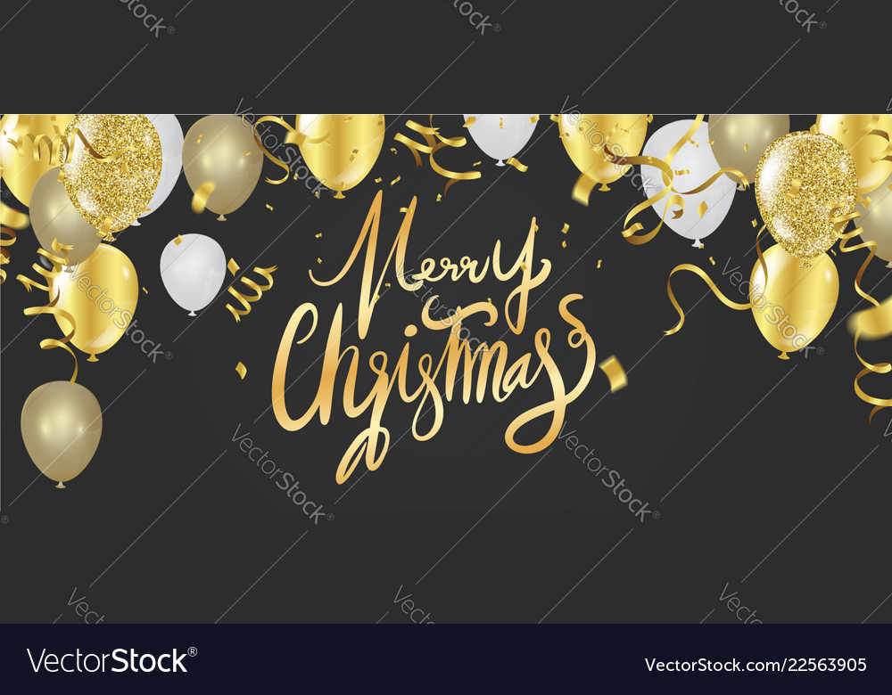 Merry christmas text on background lettering for