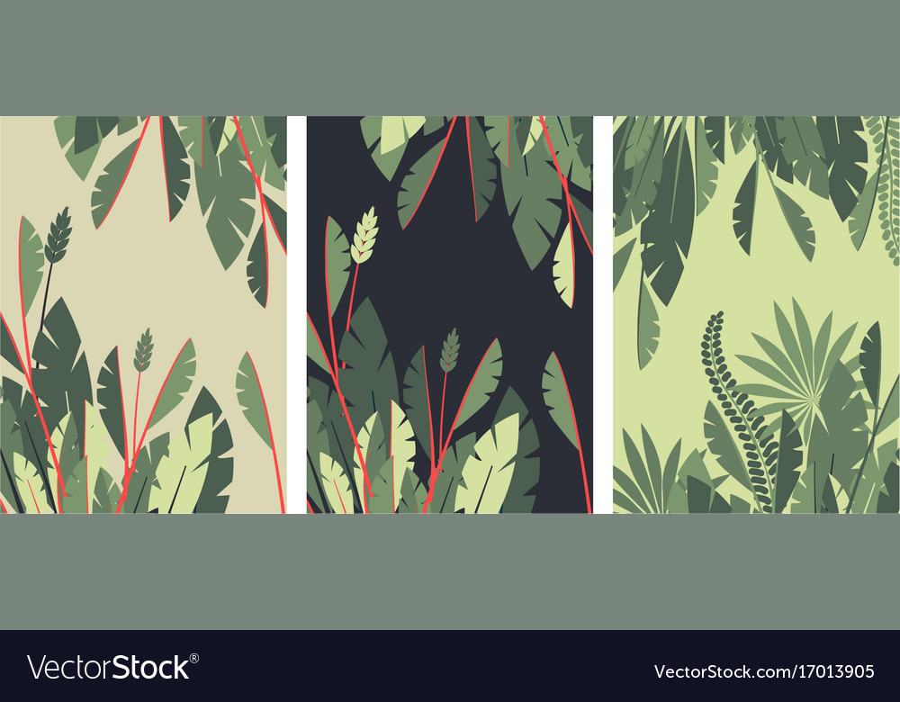 Poster tropical leaves