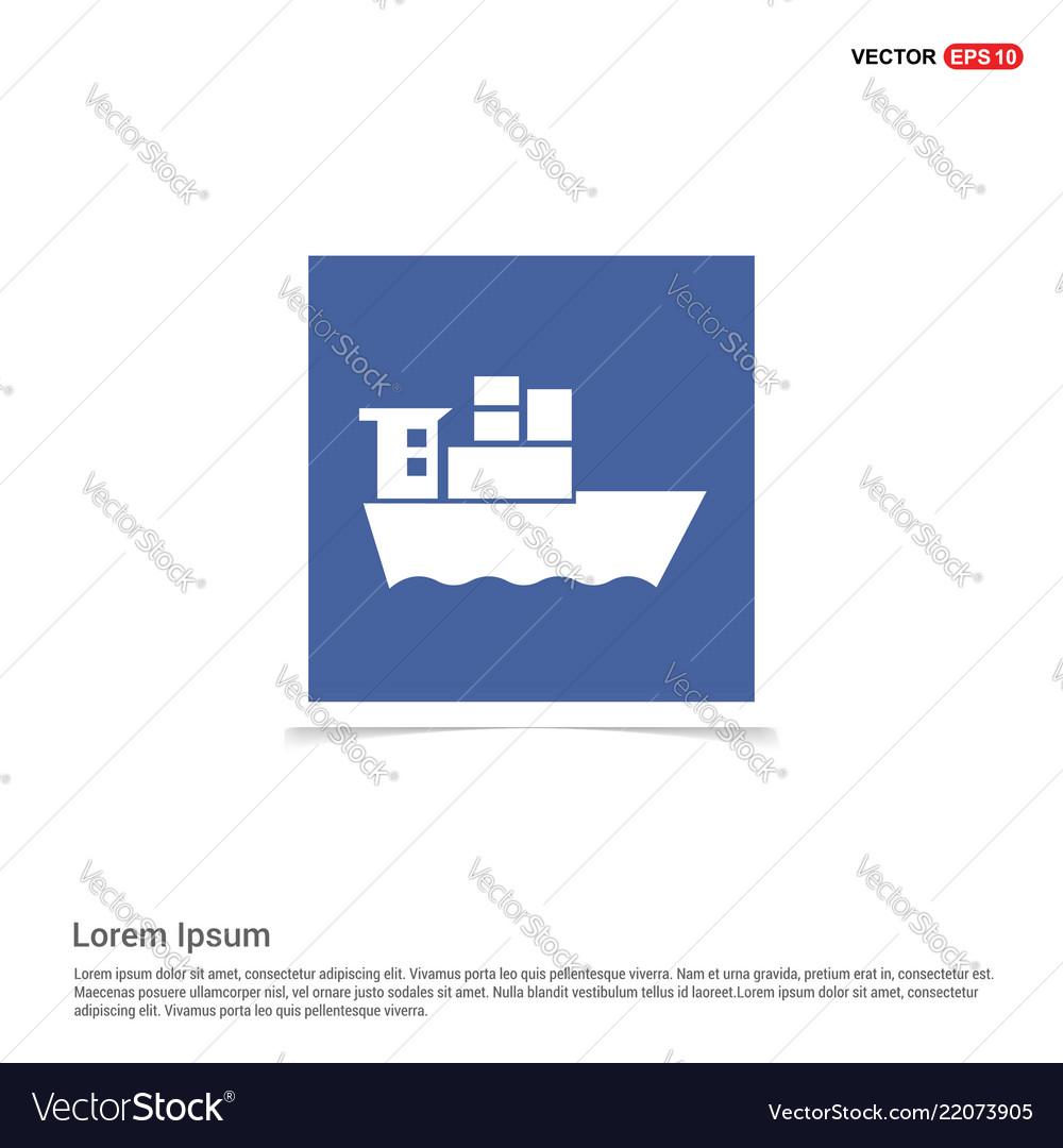 sea ship icon blue photo frame vector 22073905 sea ship icon blue photo frame royalty free vector image
