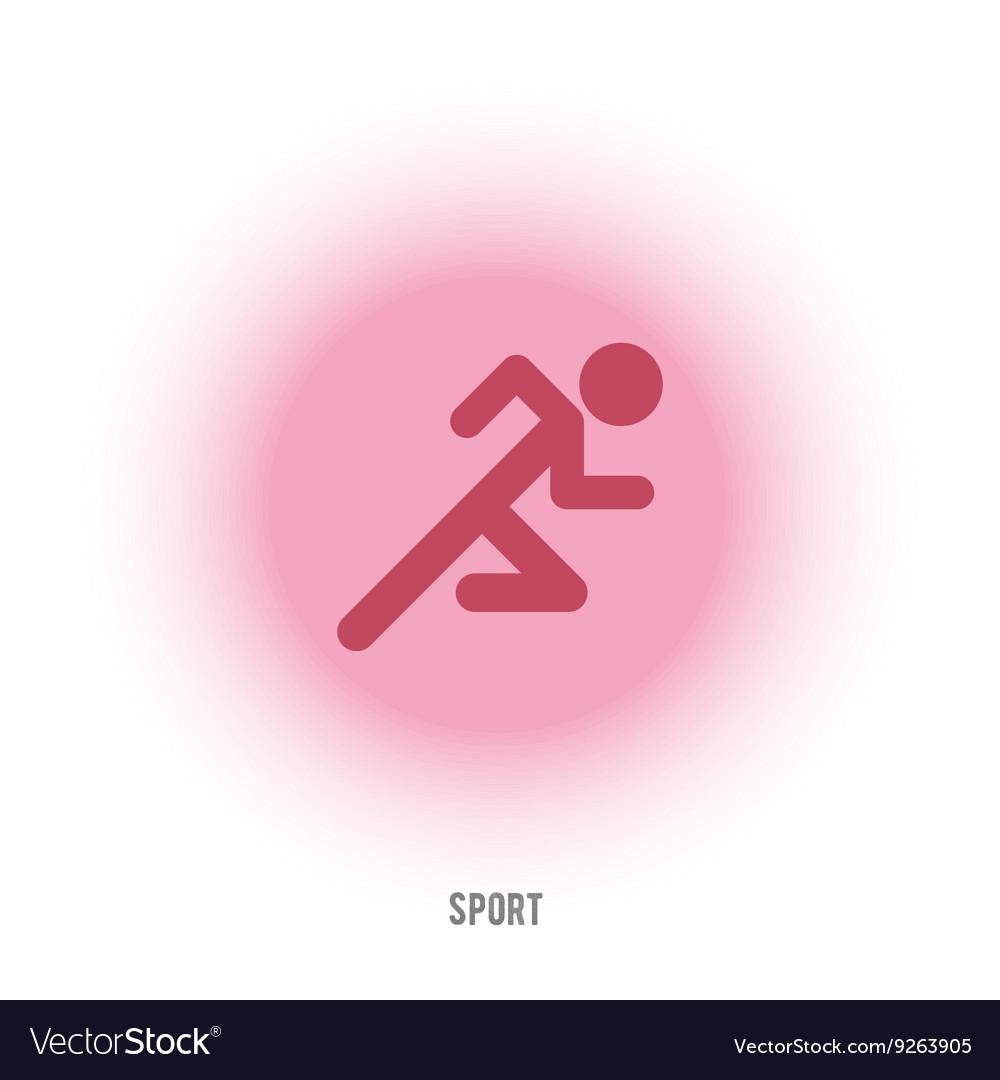 Sport sign Running red man