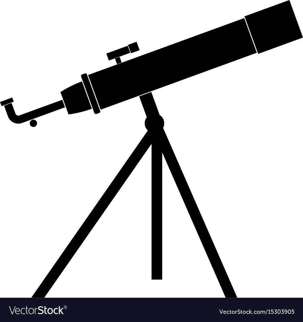 Telescope the black color icon vector image