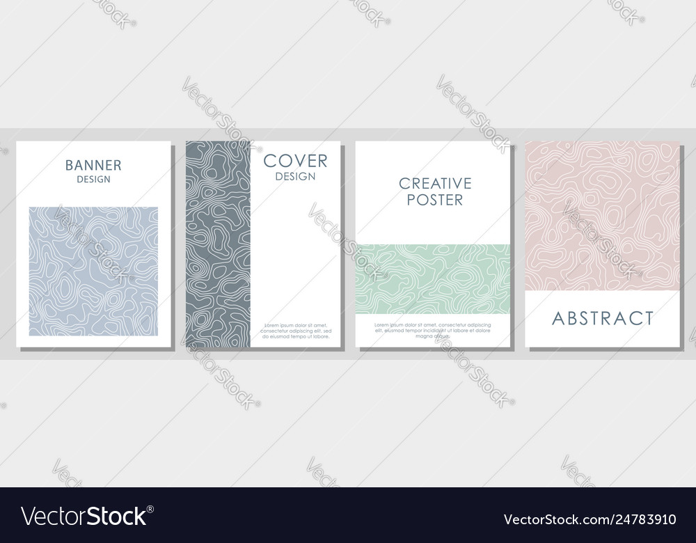 Abstract topographic contours template