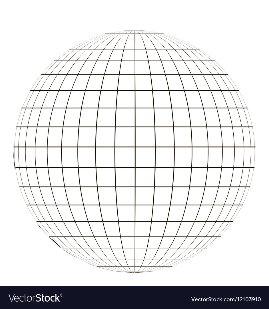 Globe with grid