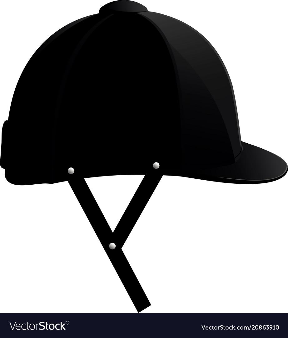 Helmet for racing vector image