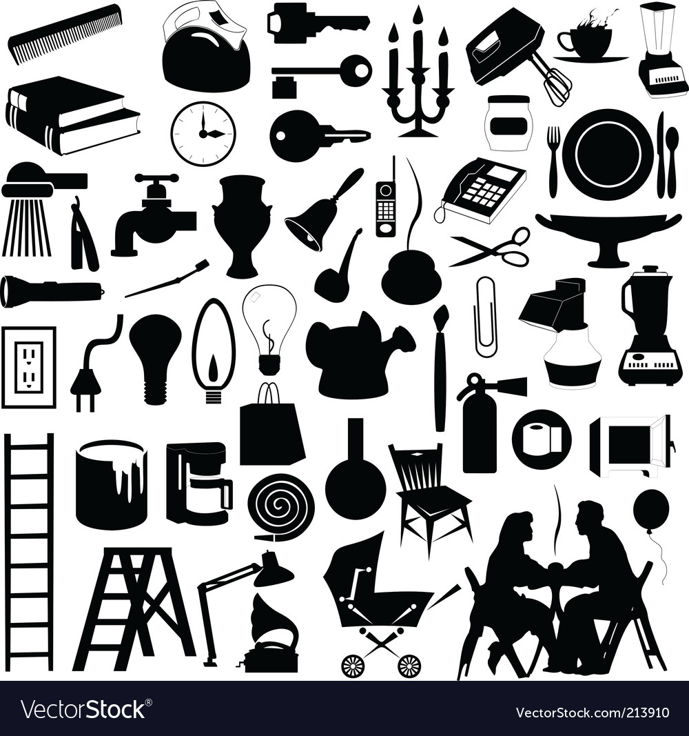 House subjects vector image