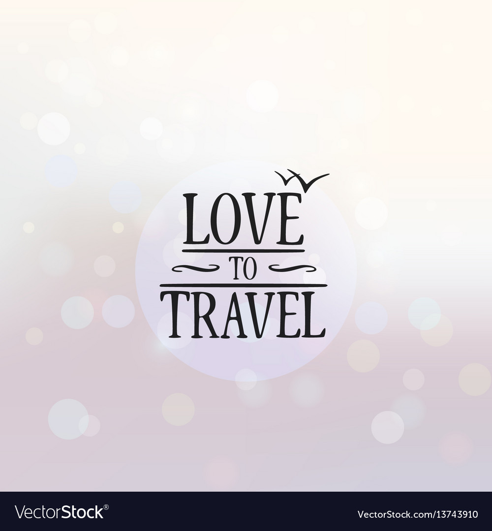 Love to travel poster background