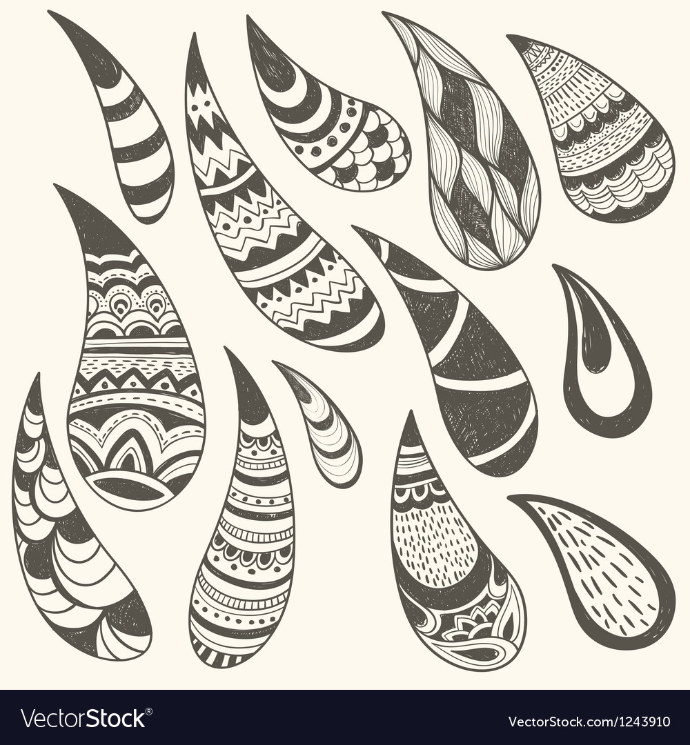 Paisley design elements